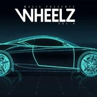 Hip Hop Car Album Cover Neon Laser Lights Capa de álbum template