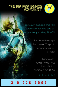 Hip Hop Dance Flyer/ Poster template