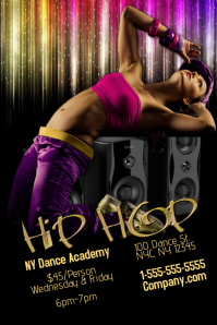 Hip Hop Dance Academy Template