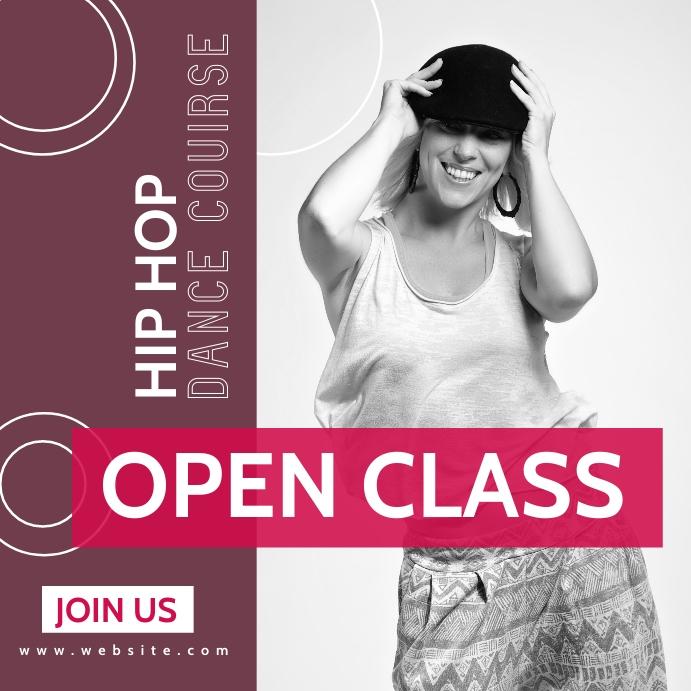 hip hop dance course class advertising Instagram Post template