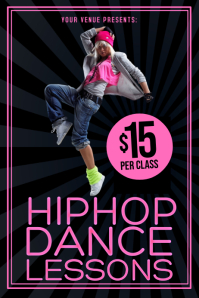 Hip Hop Dance Lessons Poster