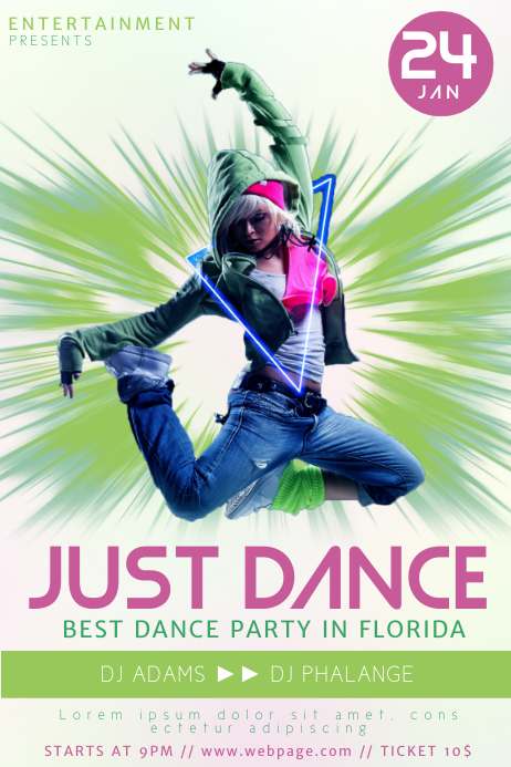 hip hop dance flyer template postermywall