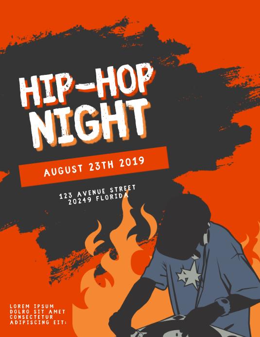 Hip-hop event Flyer Template