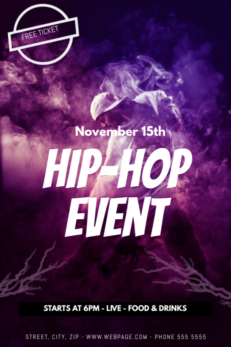 HipHop Flyer Template  Postermywall