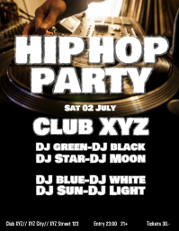 Hip Hop hiphop Party Black Music RnB flyer