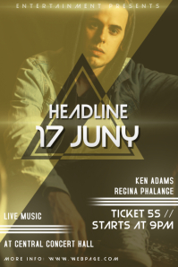 Hip-hop indie or Band concert Flyer template