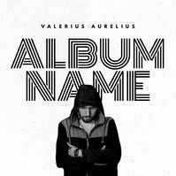 hip hop modern music album black and white mi template