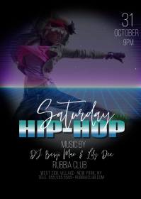 Hip Hop Nights Club Bar Flyer