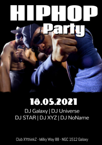 Hip Hop Party Flyer Poster