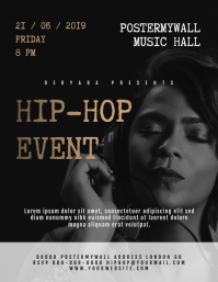 Hip-Hop Rap Music Event Flyer Template