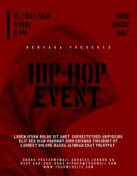 Hip-Hop Rap Music Event Flyer Template