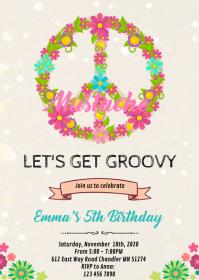 8 780 Hippie Birthday Invitation Customizable Design Templates Postermywall