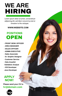 Hiring ad Half Page Wide template