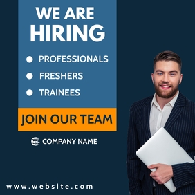 hiring advertisement instagram post template