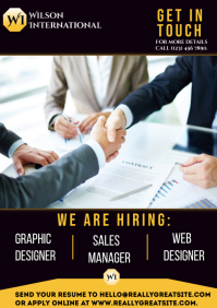 Hiring flyer A2 template