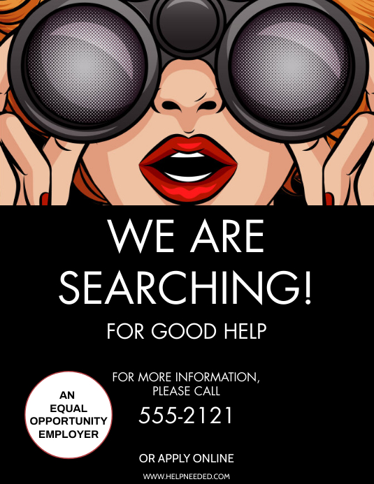 HIRING Flyer (Letter pang-US) template