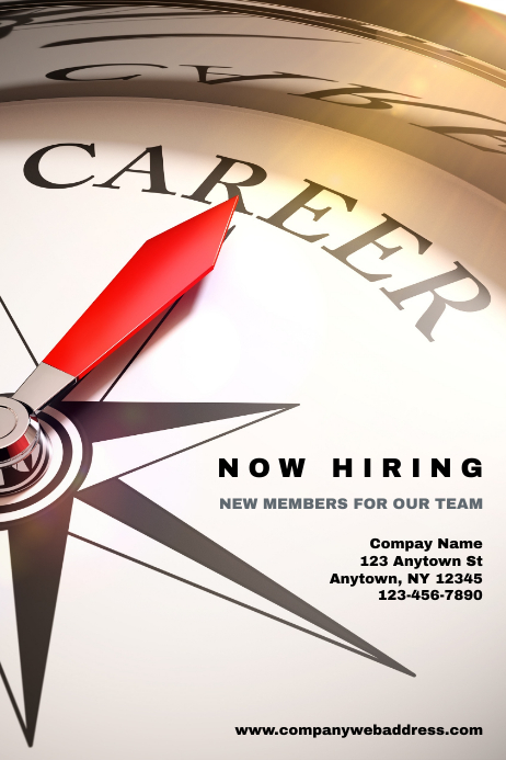 Hiring Employment Opportunity Poster