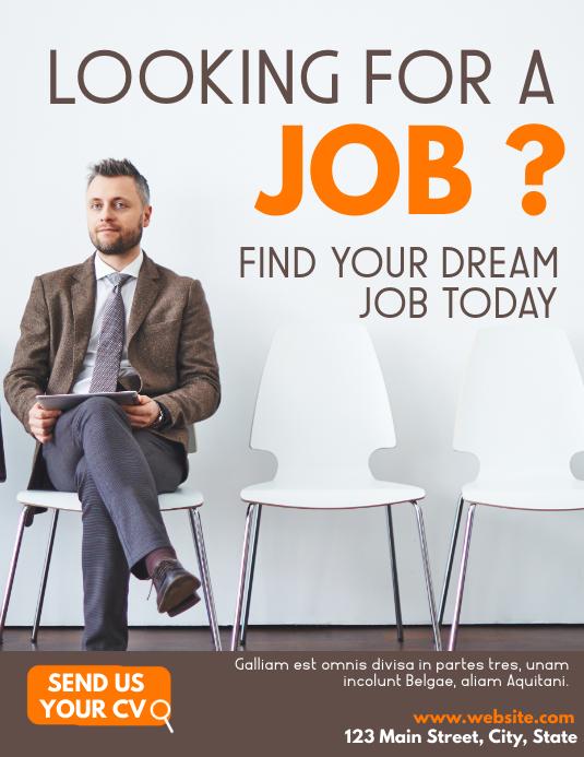 hiring flyer advertisement Folder (US Letter) template