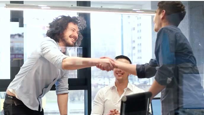 hiring flyer and handsake Miniatura de YouTube template