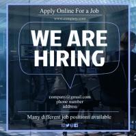 hiring flyer Instagram Post template