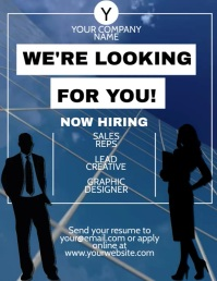 Hiring Flyer Design Template Рекламная листовка (US Letter)