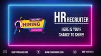 HIRING HR RECRUITER Small Business Digital Di template