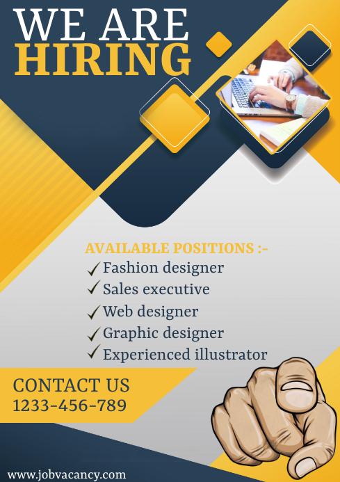 hiring now flyer A4 template
