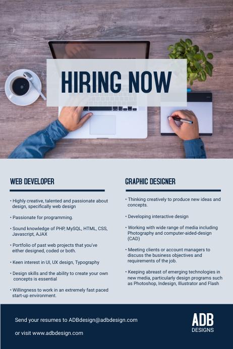 copy of hiring now internship flyer template