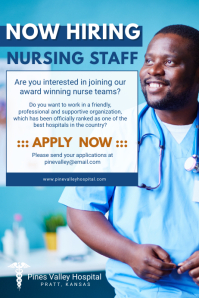 Hiring Nursing Staff Job Poster
