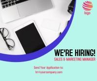 hiring post Large Rectangle template