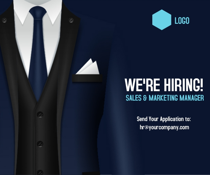 hiring post Rectángulo Grande template