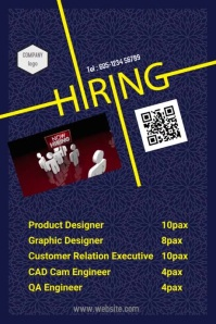 Hiring Poster 001 template