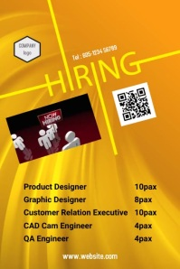 Hiring Poster 002 template