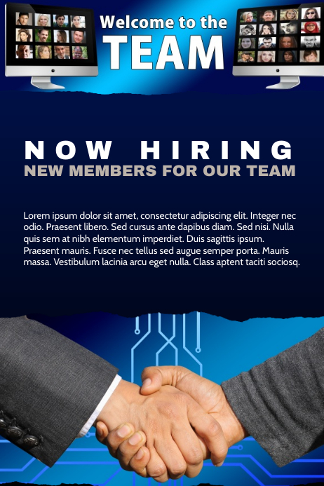 Hiring Poster for Corporate Teams tech