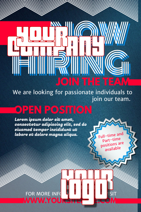 Customize 640 Hiring Poster Templates Postermywall