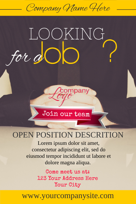 copy of hiring poster template