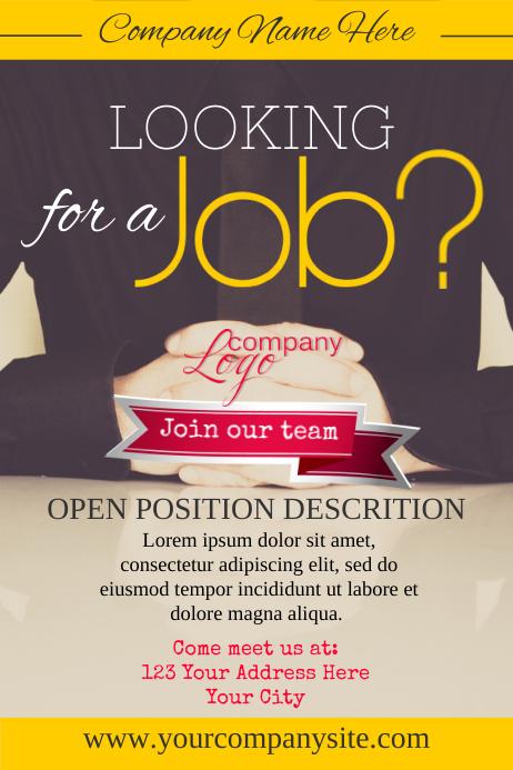 Free hiring poster template