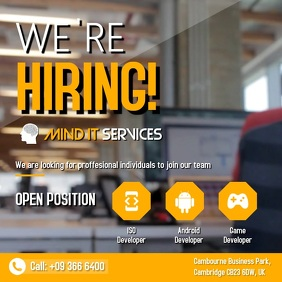 customize 610 hiring poster templates postermywall