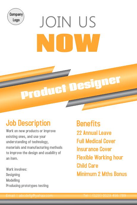 Hiring Recruitment Poster