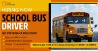 Hiring school bus driver banner ad Image partagée Facebook template