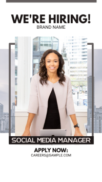 Hiring Social Media Manager Instagram Story Ad template