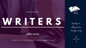HIRING WRITERS FLYER Digital Display (16:9) template