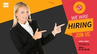 Hiring YouTube cover photo template