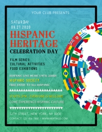 create hispanic heritage month flyers postermywall