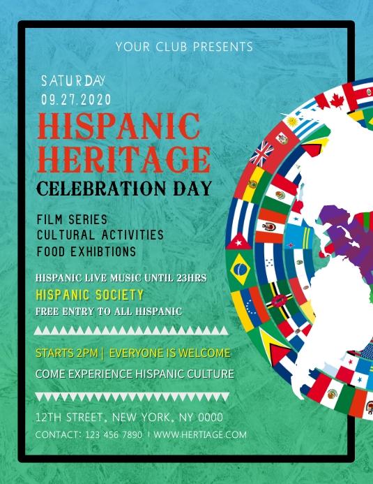 Hispanic Heritage Celebration Flyer