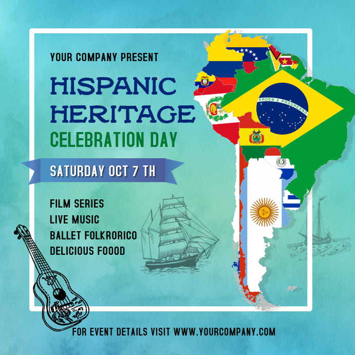 Hispanic Heritage Celebration Instagram Image Wpis na Instagrama template