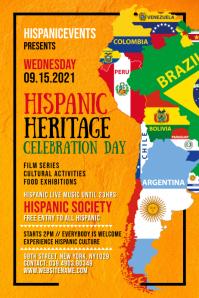 Hispanic Heritage Celebration Poster Template