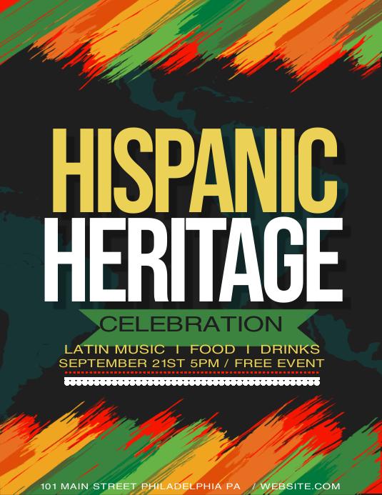 Hispanic heritage Pamflet (VSA Brief) template