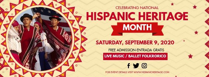 Hispanic Heritage Facebook Banner template