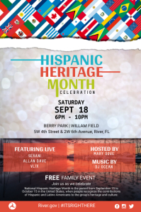 Hispanic Heritage Family Event Poster